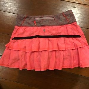 Lululemon Pace Setter Skirt Size 2 Regular Coral